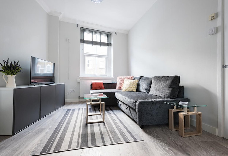 The Euston St Pancras Apartments, Londonas, Apartamentai, 4 miegamieji, Svetainės zona