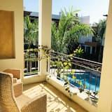 Habitación tradicional, 1 cama doble, vista a la piscina, torre - Balcón