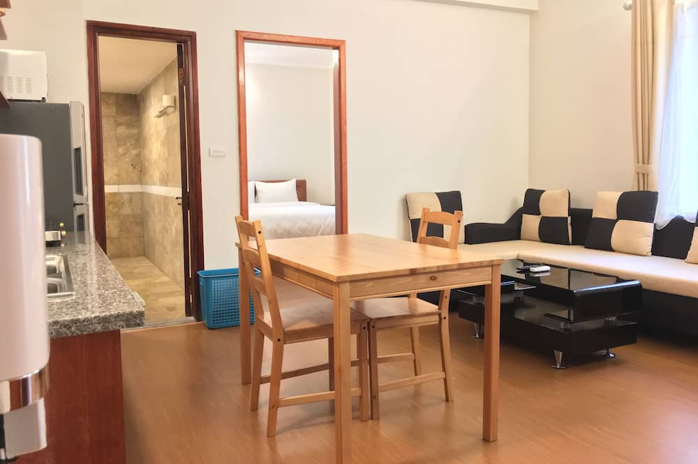Dzīvokļnumurs, viena guļamistaba, balkons - Dzīvojamā zona