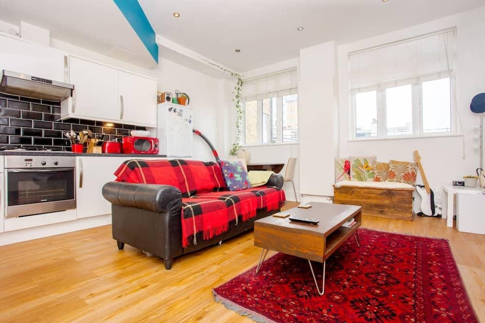 Apartment, 1Queen-Bett und Schlafsofa - Wohnzimmer