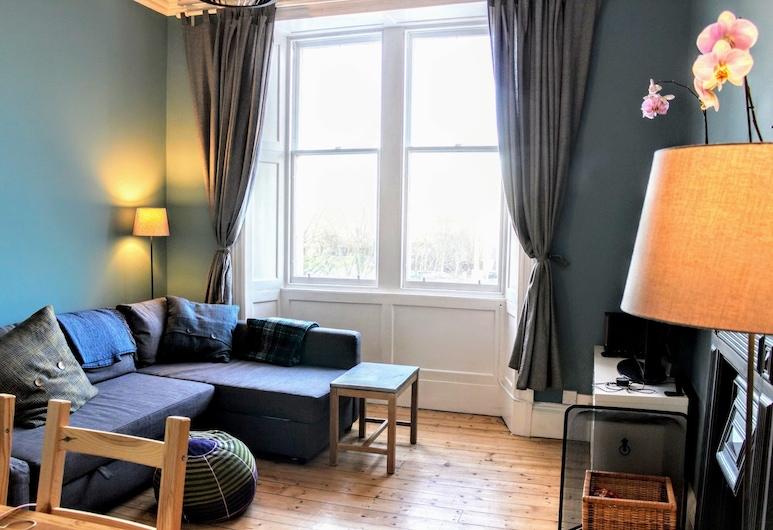Modern Arthurs Seat Apartment, Édimbourg, Coin séjour