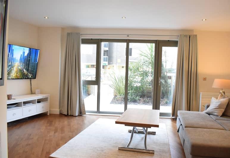 貝爾塞斯公園 1 房公寓酒店, 倫敦, 公寓 (1 Bedroom), 客廳