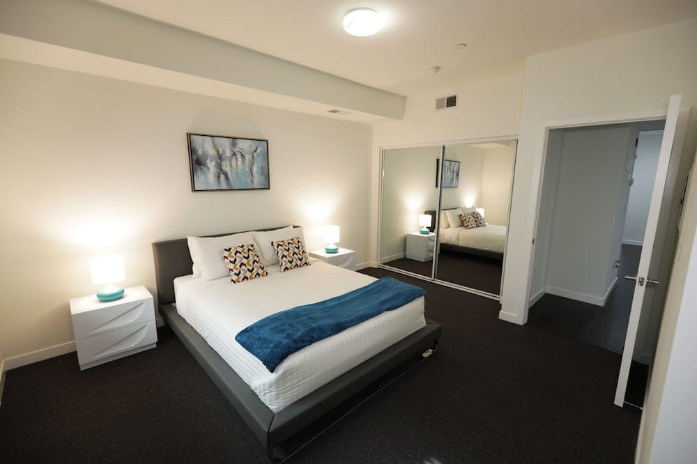 Deluxe-Apartment, 1 Schlafzimmer, Stadtblick - Wohnbereich