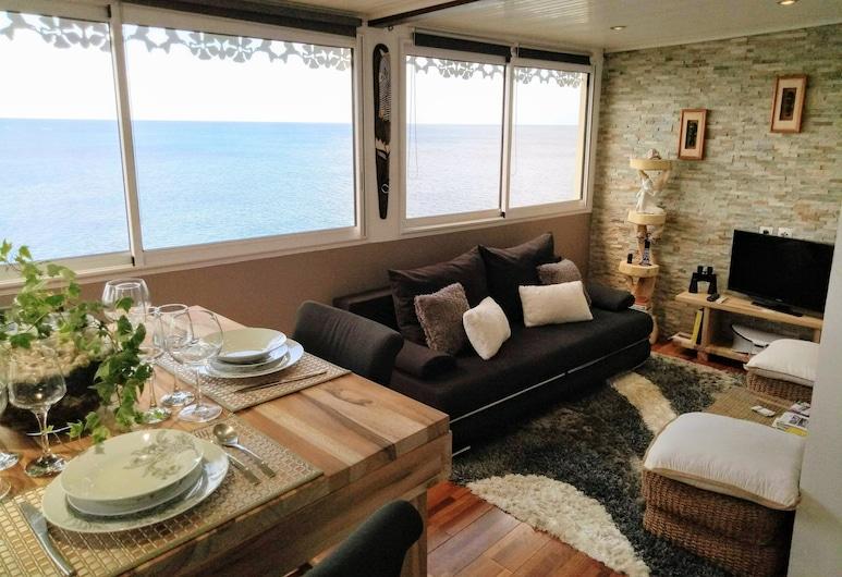 كليمارا إفايجن, شولشير, شقة ذات طابع رومانسي - غرفة نوم واحدة - بمطبخ - بمنظر للبحر, منطقة المعيشة