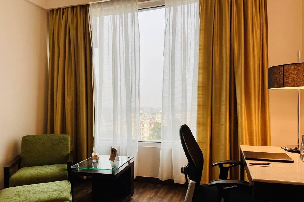 Executive Δωμάτιο, 1 Μονό Κρεβάτι, Θέα στην Πόλη - Περιοχή καθιστικού