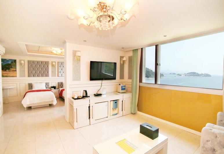 Yeosu Haebeach Hotel, Yeosu, Apartmán, Obývacie priestory