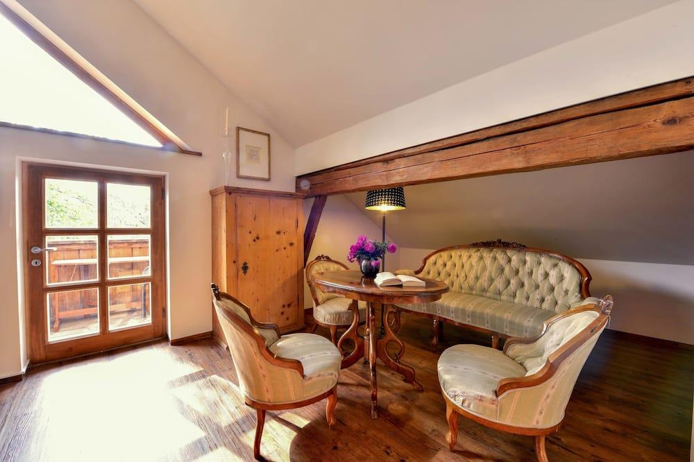 Comfort-dupleks - flere senge - ikke-ryger - udsigt til have - Stue