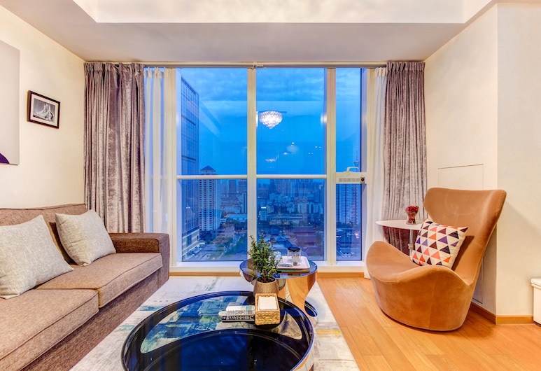 Zhi Shang Apartment Chengdu, Chengdu, Grand Suite, 2 Bedrooms (Chinese,Hongkong,Macau,Taiwan guests), Living Room
