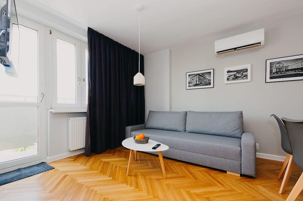 คอมฟอร์ทอพาร์ทเมนท์, 1 ห้องนอน, ระเบียง - พื้นที่นั่งเล่น
