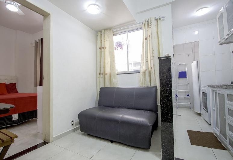 LineRio Copacabana Residence 189, Rio de Janeiro, Családi apartman, 1 hálószobával, tengerparti (189), Nappali rész