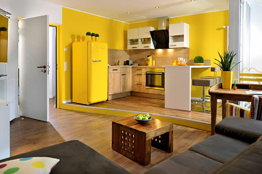 經典公寓, 1 張加大雙人床 - 客廳