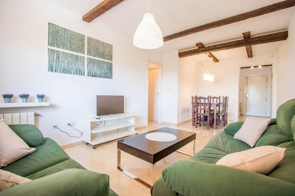 Dzīvokļnumurs, divas guļamistabas, skats uz baseinu - Dzīvojamā istaba