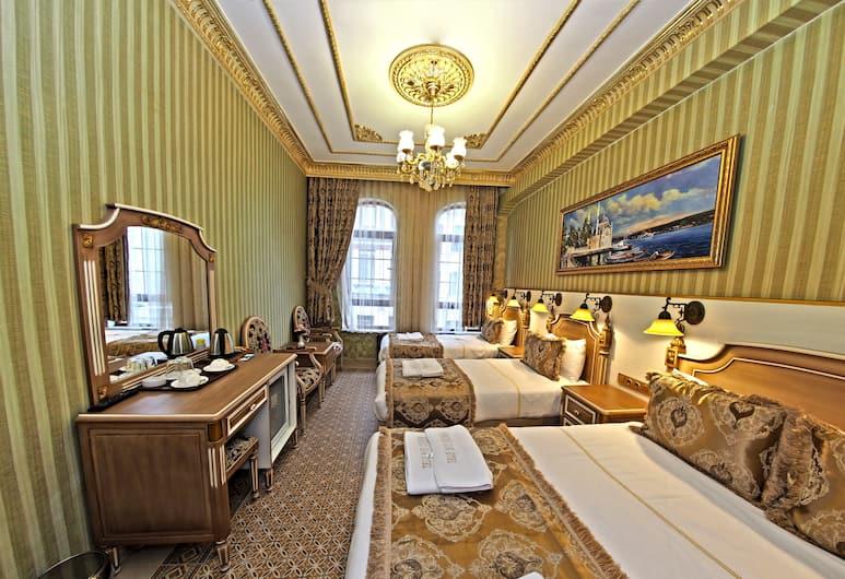 Sirkeci Gar Hotel, Istanbul, Firemannsrom – deluxe, Gjesterom