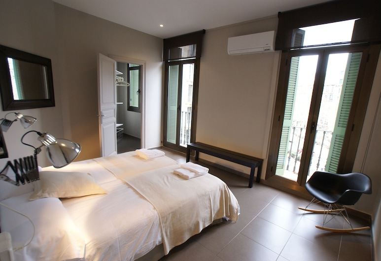 555 Apartments BCN, Barcelone, Appartement, 3 chambres (5 single beds), Chambre