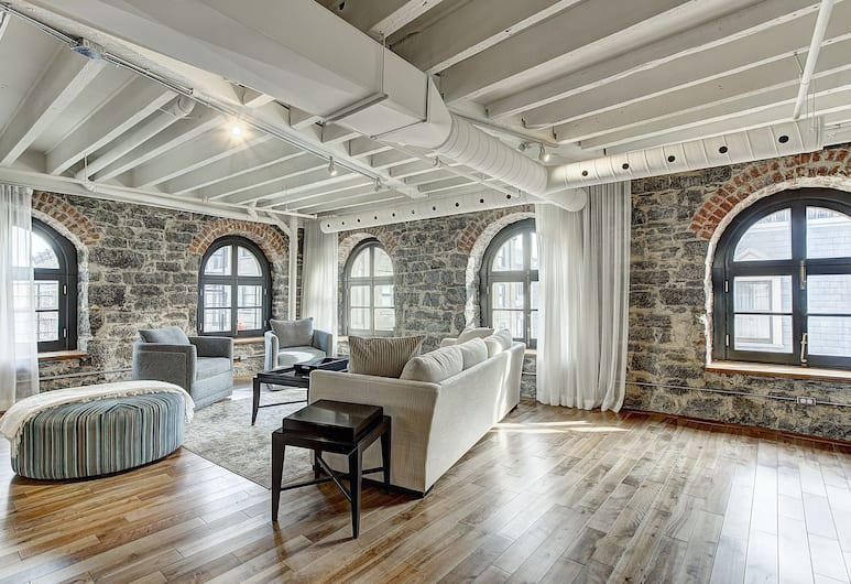 The Saint Lofts, Montreal, Elite Penthouse, 4 Bedrooms, Non Smoking, Living Area