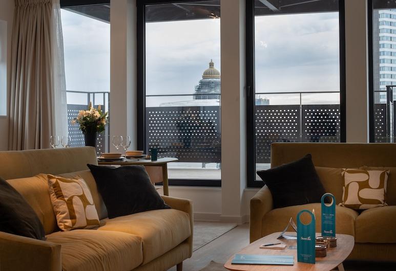 Sweet Inn Apartments - Toison D'or, Bruxelas, Apartamento Deluxe, 3 Quartos, Vista Cidade, Quarto