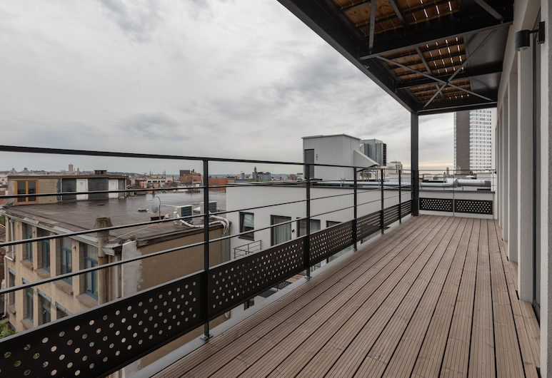 Sweet Inn Apartments - Toison D'or, Bruxelles, Deluxe apartman, 3 spavaće sobe, pogled na grad, Terasa/trijem