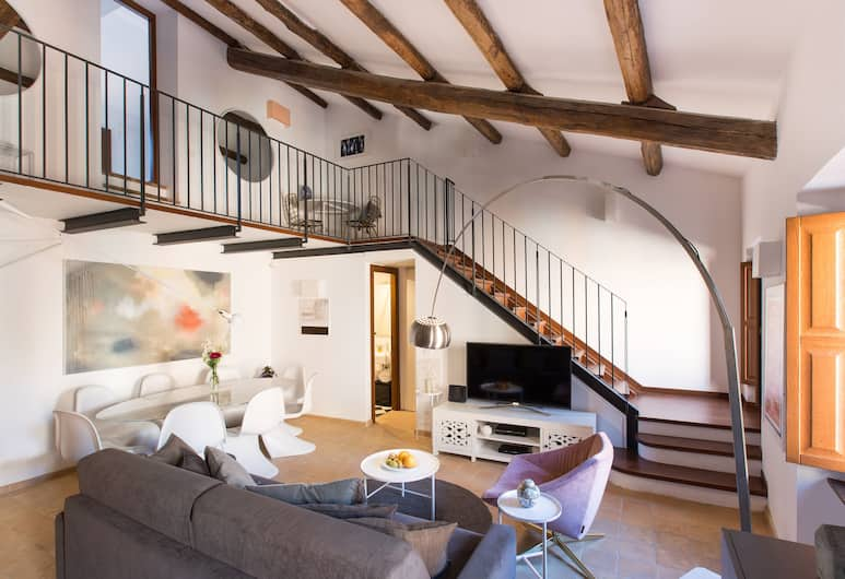 Rome Accommodation - Margana II, Rom, Apartment, Ruang Tamu