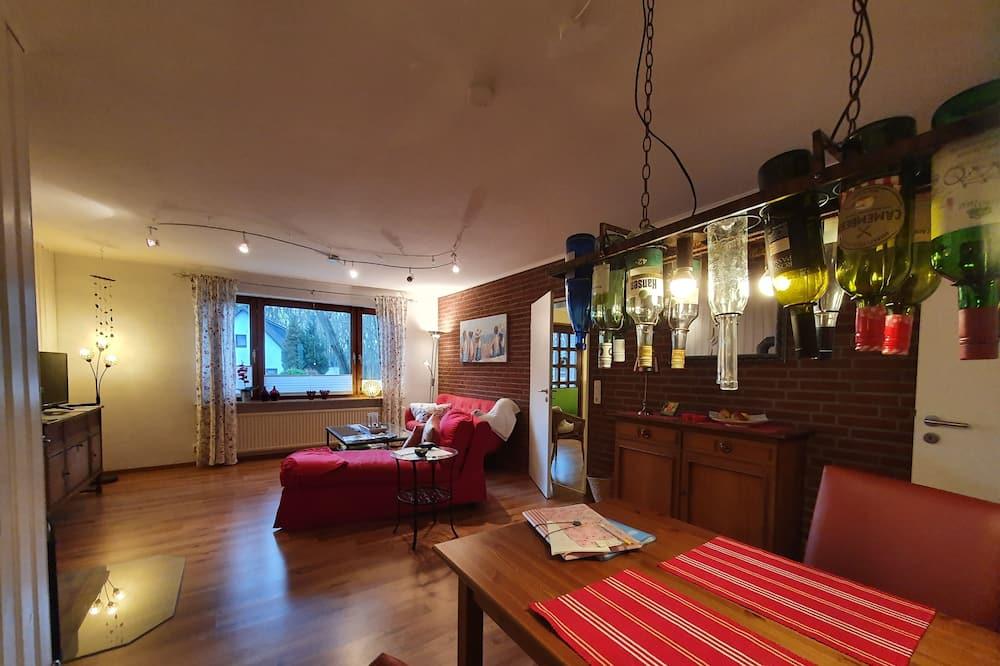 Exclusive-Apartment, 1 Schlafzimmer, Kamin - Wohnbereich