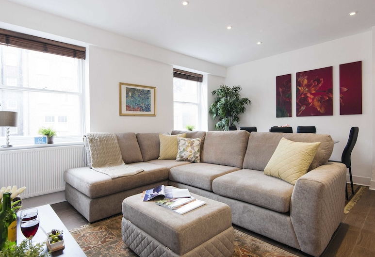 Stunning  Queensway Apartment - SGS, London, Apartment, 2 Schlafzimmer, Wohnzimmer