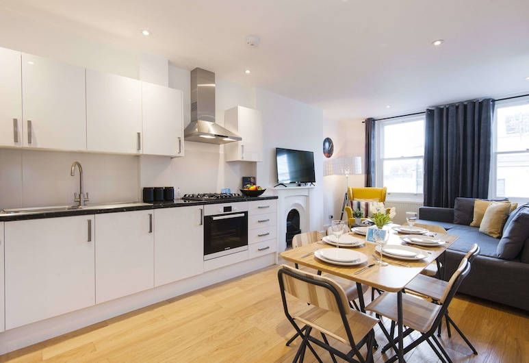 The North End Road Residence, London, City-Apartment, 2 Schlafzimmer (TL23), Zimmer