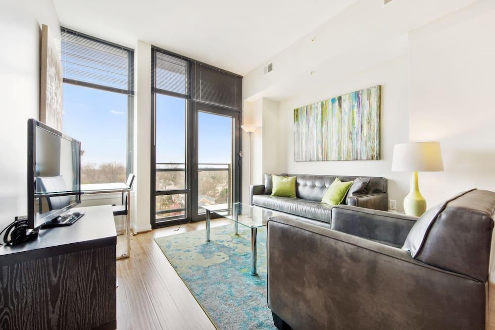 Luxury Apartment, 1 Bedroom - Living Room