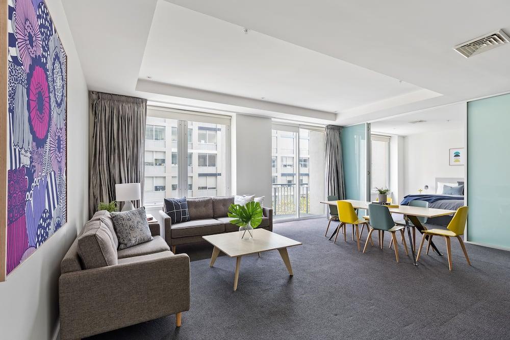 Deluxe Apartment, 2 Katil Ratu (Queen), Non Smoking - Ruang Tamu