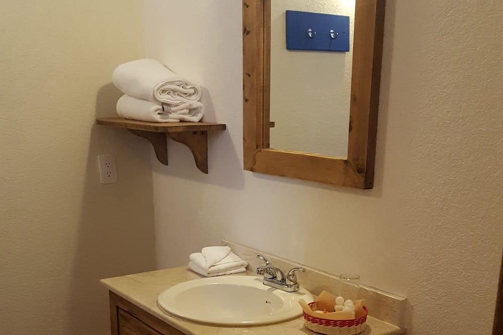 Двомісний номер преміум-класу, 1 ліжко «квін-сайз», обладнано для інвалідів, з видом на сад - Раковина