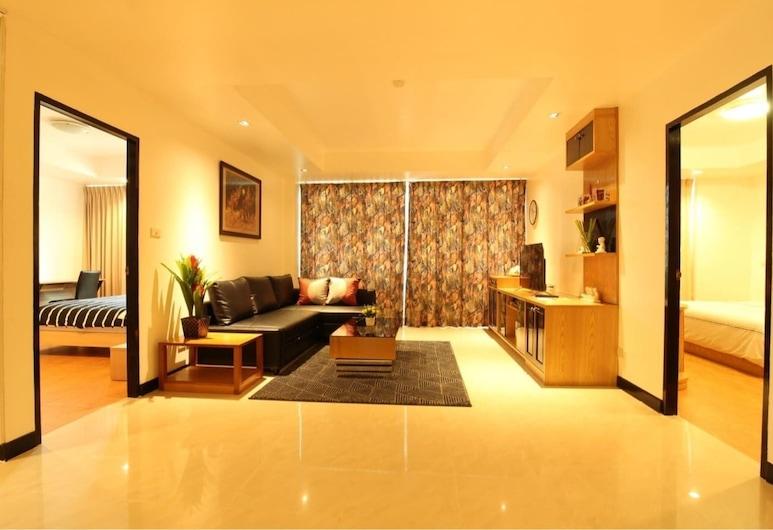 Serena Sathorn Suites, Bankokas, Exclusive Apartment 2 Bedrooms, Svetainės zona