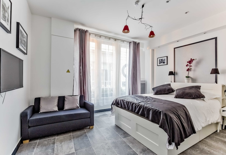 21 - Atelier Chaplin Montorgueil, Paryż, Apartament, 2 sypialnie, Widok zpokoju