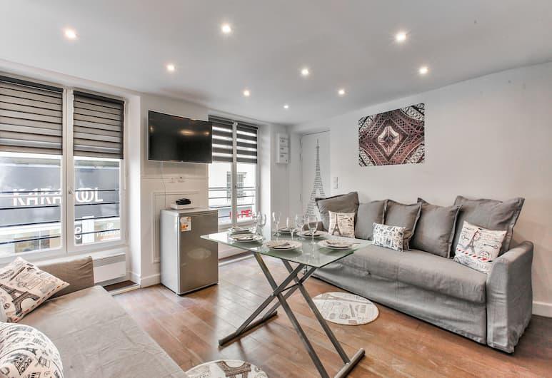 40 - 巴黎艾菲爾公寓飯店, 巴黎, 公寓, 2 間臥室, 客廳