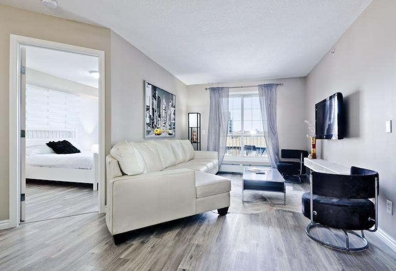 Suite Digs Rivertwin, Calgary, Leilighet, 2 queensize-senger, Oppholdsområde