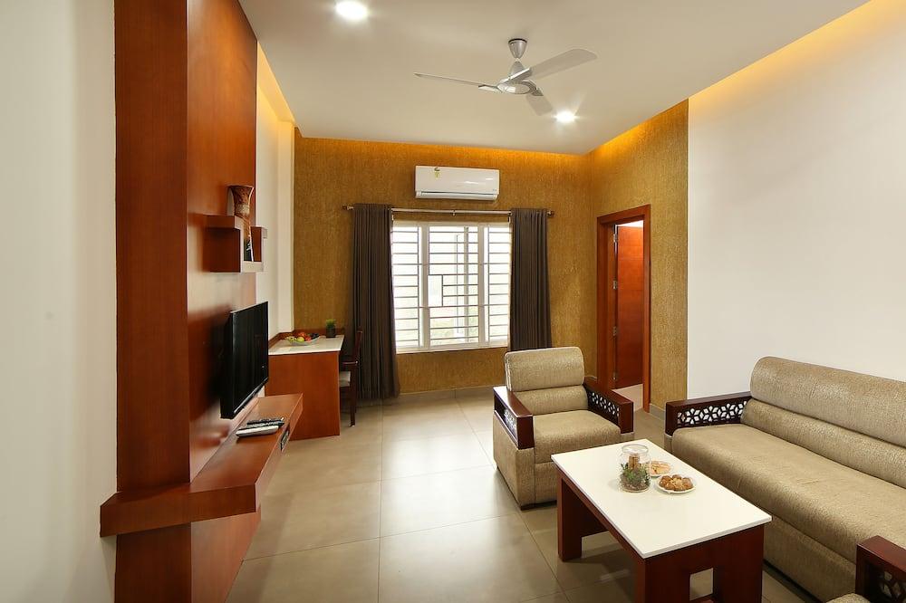 奢華套房, 1 張特大雙人床, 非吸煙房 - 客廳