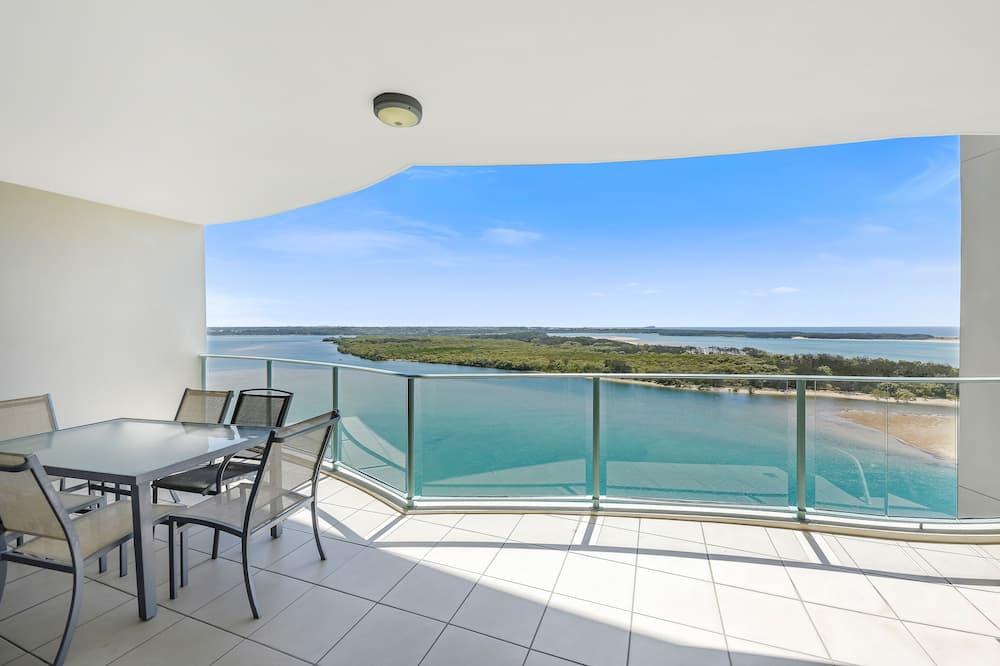 Deluxe-Apartment, 3Schlafzimmer, Nichtraucher, Meerblick - Terrasse/Patio