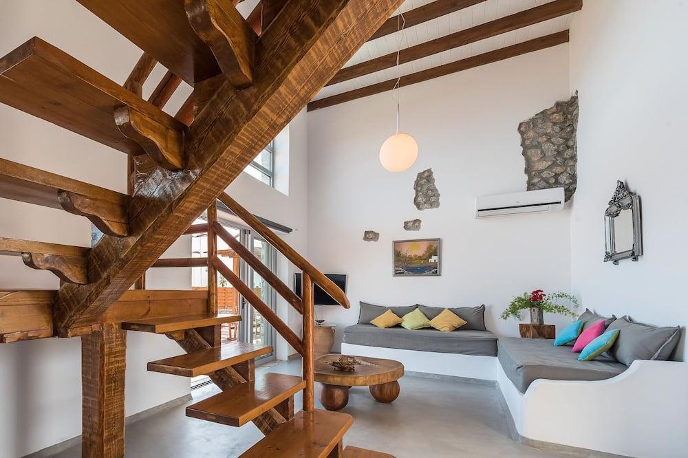 Villa, 4 chambres, vue mer - Coin séjour