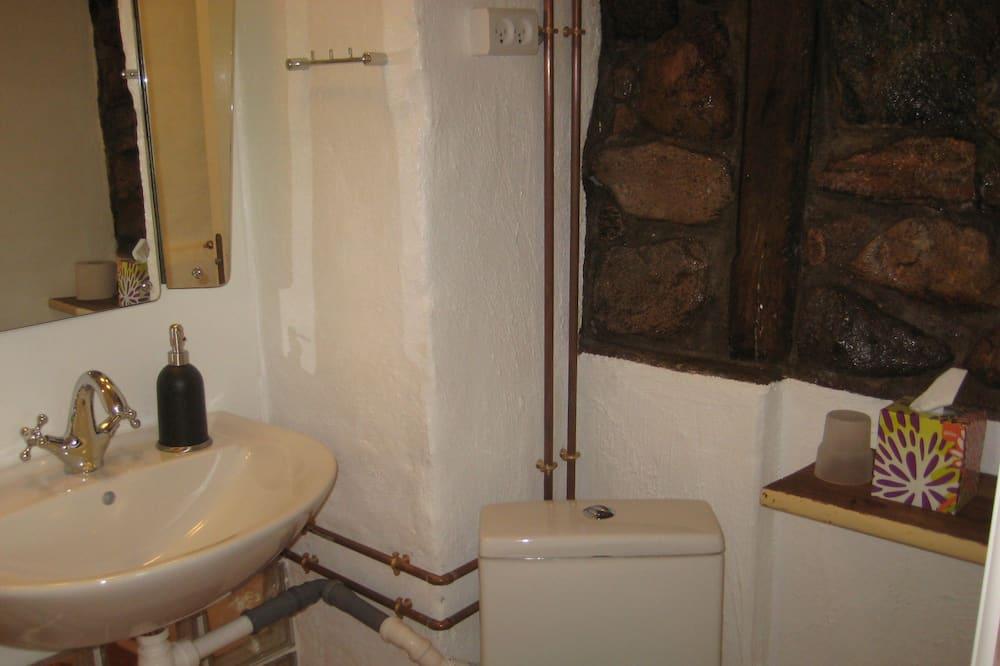 Departamento básico, 2 habitaciones - Lavabo en el baño