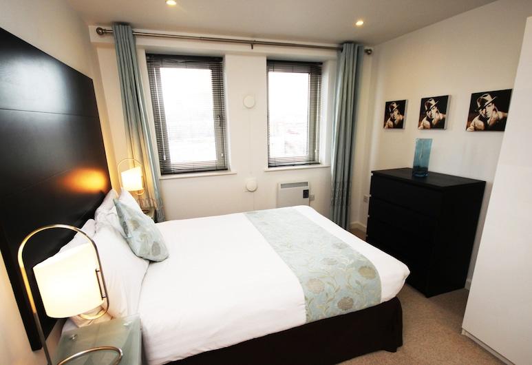 City Quadrant, Newcastle-upon-Tyne, Apartament typu Deluxe, prywatna łazienka (605 City Quadrant), Pokój