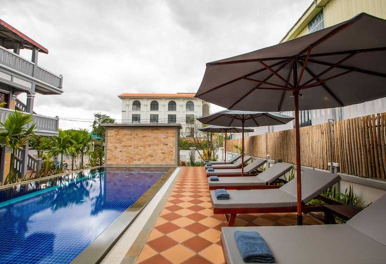 Botoum Hostel, Siem Reap, Piscine en plein air