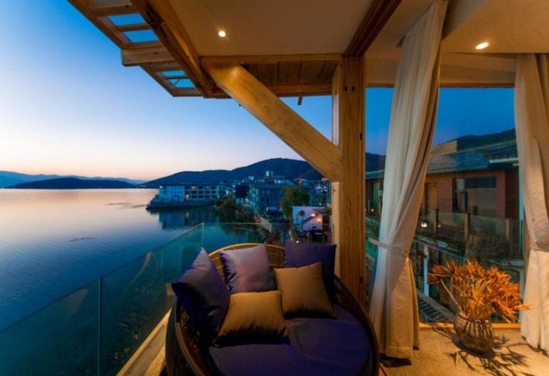 Dali Zewan Seaview Inn, Νταλί, Deluxe Δίκλινο Δωμάτιο (Double), Μπαλκόνι, Θέα στη Θάλασσα, Δωμάτιο επισκεπτών