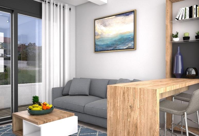 プレミアム デザインド アパートメンツ, ティヴァト, アパートメント 1 ベッドルーム, リビング ルーム