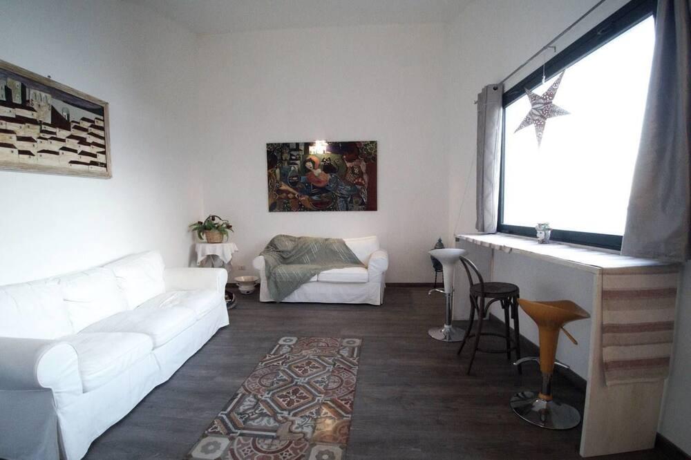 apartman, 2 hálószobával, kilátással a városra - Nappali