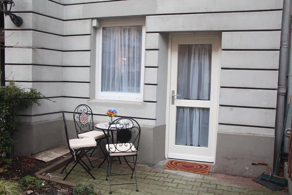 City-Apartment, 1Queen-Bett und Schlafsofa, Terrasse - Zimmer