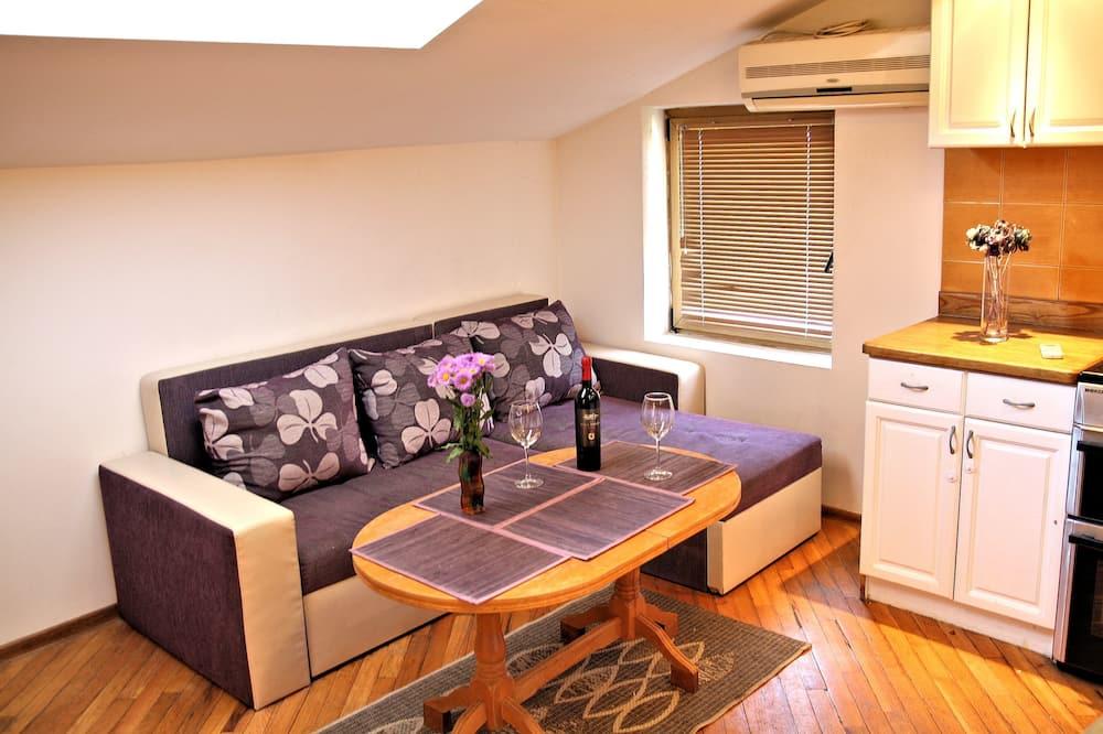 Romantic Apart Daire, 1 Yatak Odası, Deniz Manzaralı - Oturma Odası