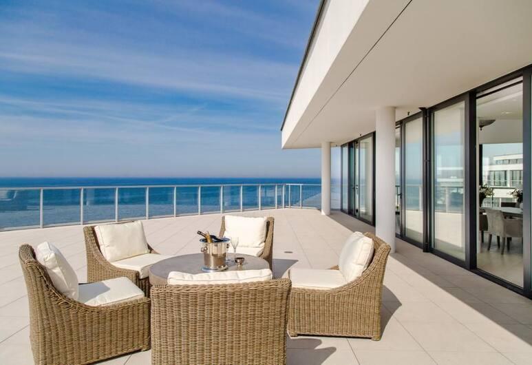 Dune Beach Resort, Mielno, Ateliérový apartmán, výhľad na more, Terasa