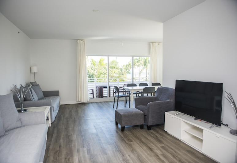 سوبي تويلفث آند أوشن سويتس, ميامي بيتش, بنتهاوس بريميير - غرفتا نوم - بمنظر للمحيط, غرفة معيشة