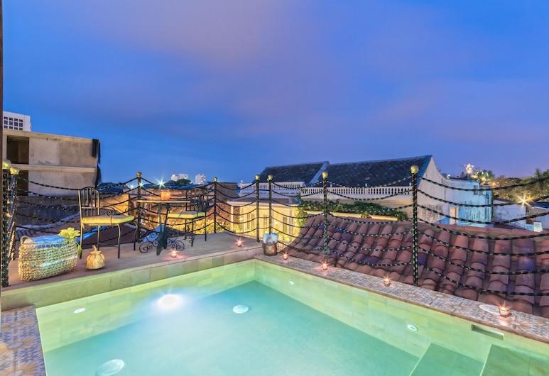 Hotel Monaguillo de Getsemani, Cartagena, Sonnenterrasse