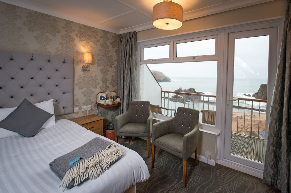 Standard-dobbeltværelse - 1 kingsize-seng - balkon - havudsigt - Altan