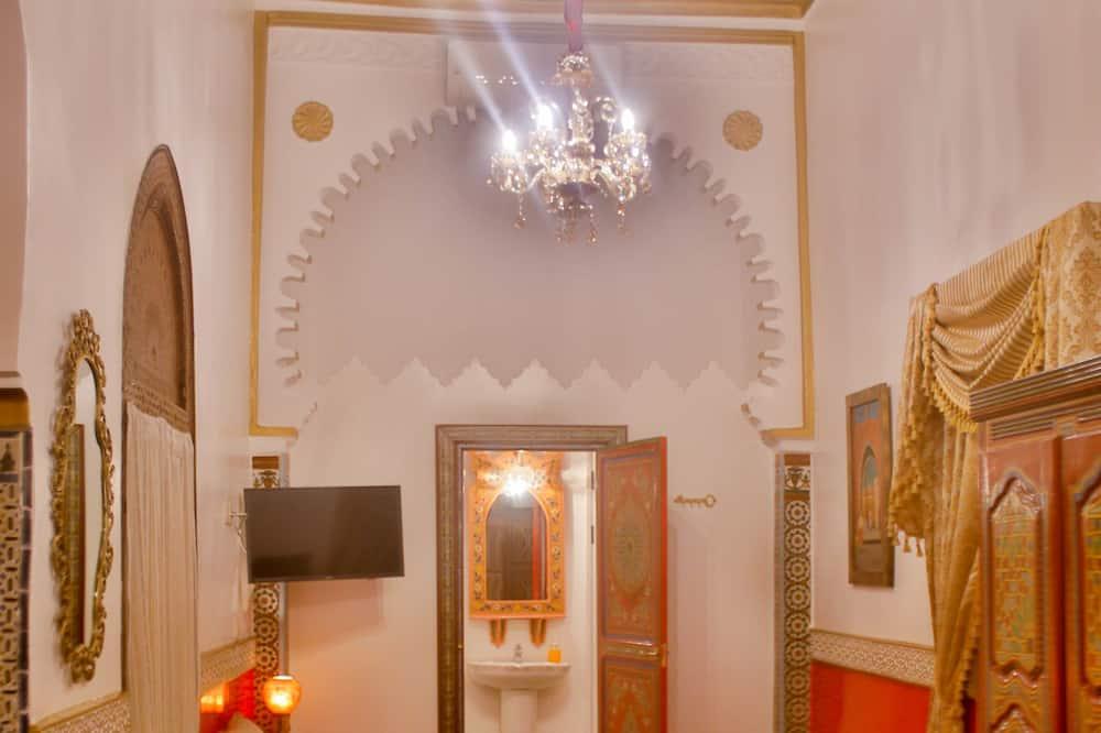 家庭四人房, 私人浴室, 高層 - 客廳