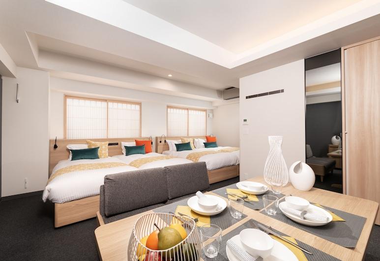 MIMARU KYOTO NISHINOTOIN TAKATSUJI, Kyoto, Apartamento (4 Single-Beds), Quarto