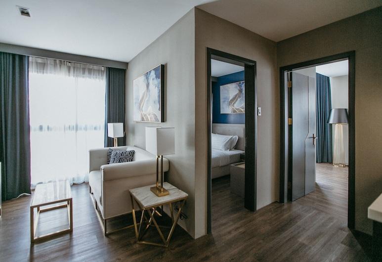 PVL Suites, Dumaguete, Svit - 2 sovrum, Vardagsrum